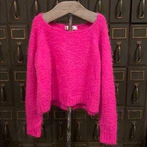 Decree super soft sweater in fuschia